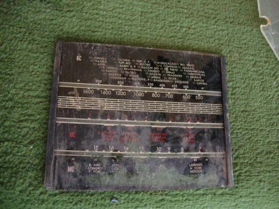 Dial De Rádio Valvulado Antigo