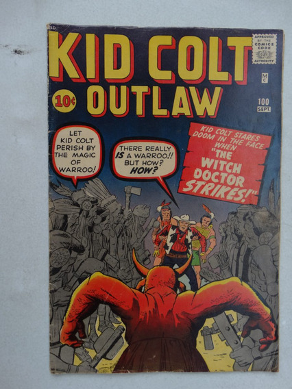 Kid Colt Outlaw Nº 100! Sept 1961! Original Americana!