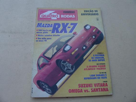 = Revista 4 Rodas 33 = Agosto Mazda Rx-7 Suzuki Vitara Santa