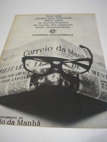 ( L - 290 ) Propaganda Antiga Jornal Correio Da Manhã