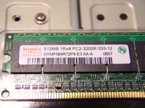 Memória 512mb 1rx8 Pc2 3200r-333-12 Registrada Servidor
