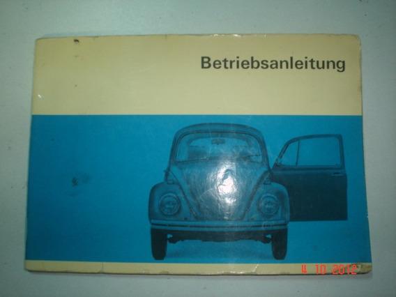 Manual Vw Fusca Alemão 69 70 Sedan Conversivel Volkswagen