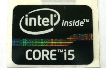 Adesivo Original Intel Core I5 2° E 3° Geração (fundo Preto)