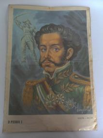 Gravura Antiga Retratando Dom Pedro Lanzellotti Coleção