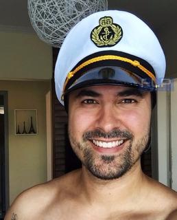 Chapéu Quepe Capitão Marinha Marinheiro Fantasia Fest Aeio@