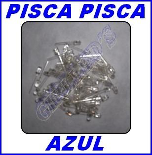 Led 5mm Pisca Azul - Simulador De Alarme Kit 20 Peças =r$25