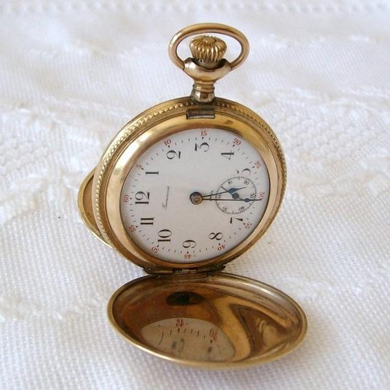 Relógio De Bolso Tavannes - 3 Tampas.