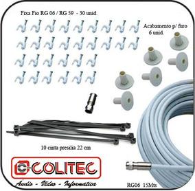 Kit P/ Instalação ( Instalador ) 30mts Cabo Coaxial + Itens