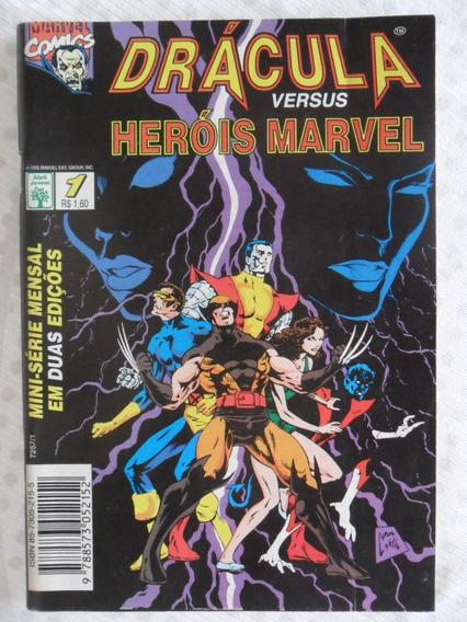 Drácula Versus Heróis Marvel Nºs 1 E 2! Ed. Abril! 1995!