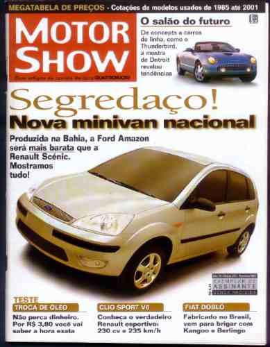 Motor Show - Fev-2001 -clio Sport V6, Dobló, Salão Do Futuro