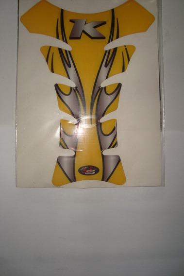 Adesivo Protetor De Tanque Amarelo Com Escrita Kasinki Comet