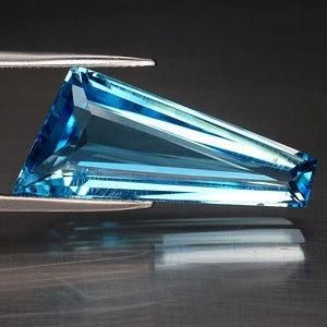 Excelente Raro E Bonito Topazio Azul 18,00 Cts.