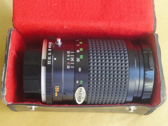 Objetiva Minolta Tele Rokkor-x Qd 135mm 1:3.5 Mint