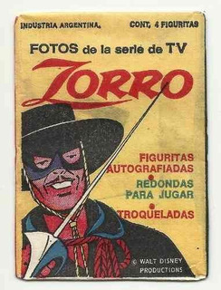 Zorro Serie De Tv Paquete De Figuritas Año 1977 Cerrado!!