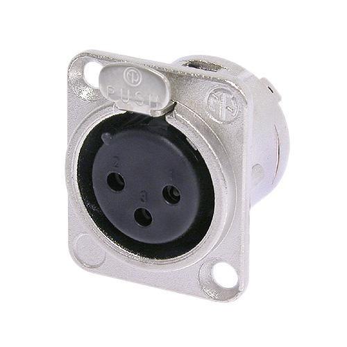 Plug Conector De Embutir Xlr Fêmea 3 Pólos Neutrik Nc3fd-l-1