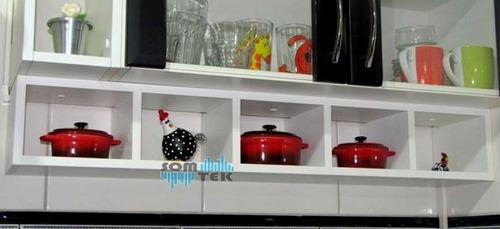 Imagem 1 de 4 de Nicho Colmeia 80x15x18 Cm 5 Quadros Mdf 15mm Cozinha