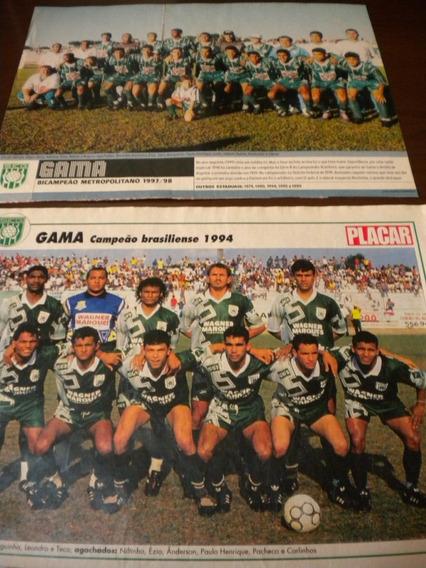 Gama Lote Com 2 Posters Campeão Distrito Federal Brasília