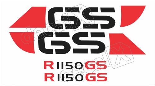 Imagem 1 de 2 de Emblema Adesivo Bmw R1150gs Prata Par Bwf1150gs05