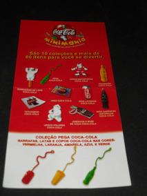 Folheto Antigo Promoção Minimania Coca-cola Pega Tazo Cards