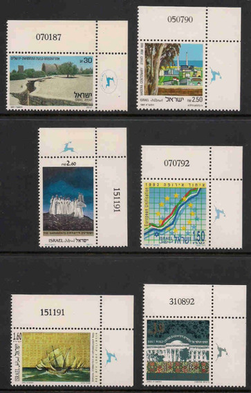 Israel 1987-93 Lote De Selos Temáticos Judaica Sionismo Rabi
