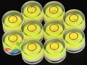 4 Nível Bolha Redondo 12x7,5mm Nivelador Disco Câmera Móveis