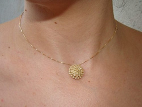 Ivi1388 = Colar Brunner Com Ping. O.amarelo 18k !diamantes!