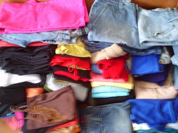 Lote 70 Peças De Roupas Usadas Femininas E Infantil - Bazar
