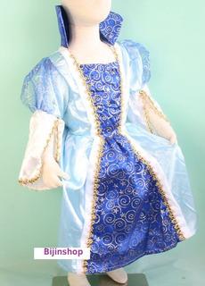 Fantasia Infantil Princesa Azul Luxo Cinderela