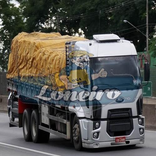 Encerado 9x5 Lona De Algodão Caminhão Toco Truck Ocre +iho