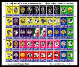Estampilla Timbre Monedas Plata Y Oro De Mexico En Carpeta