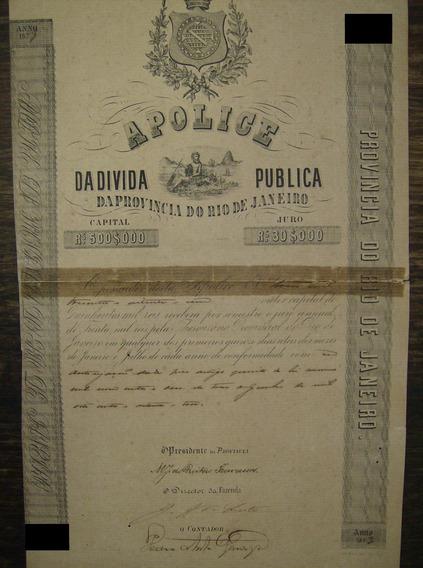 Apólice Da Dívida Pública Provincia Do Rio De Janeiro - 1873