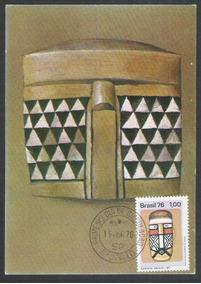 Max-44 - Máximo Postal,1976 Cultura Indígena, Máscara..