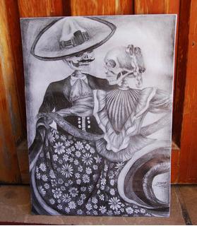 Dibujo Original Baile El Son De La Muerte