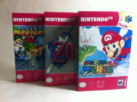 Kit 20 Mini Caixas Para Jogos De Nintendo 64