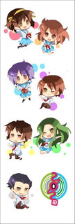 Plancha De Stickers De Anime De Haruhi Suzumiya Kyon Yuki