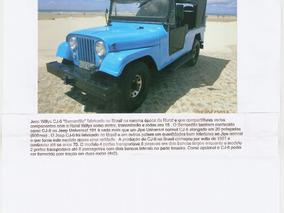 Jeep Ford Cj6 1963 Bernadão Rarissímo Super Conservado