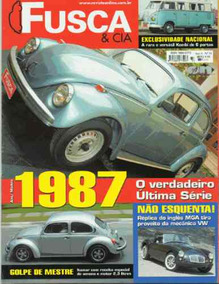 Fusca & Cia Nº33 Última Série 1987 Kombi 6 Portas Mga Fusgol