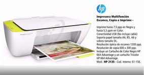 Multifuncional Jato De Tinta Color Deskjet Advantage 2135 Hp
