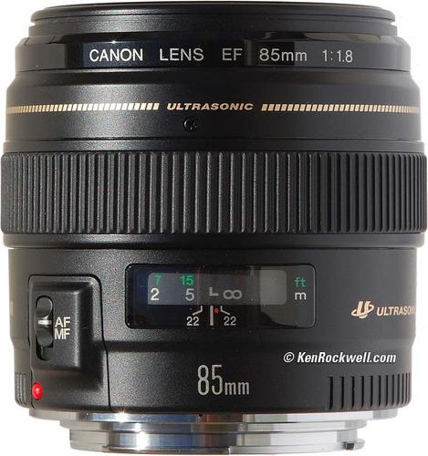 Lente Canon Ef 85mm F/1.8 Usm C/ Nf-e Garantia 1 Ano Canon