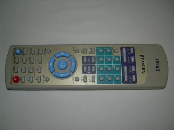 Controle Remoto Para Dvd Amstrad Ds451 Frete Grátis