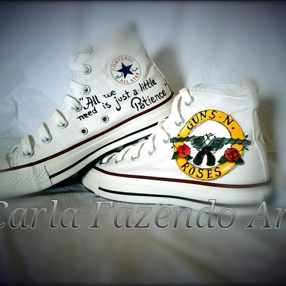 All Star Converse Guns N´ Roses Personalizado
