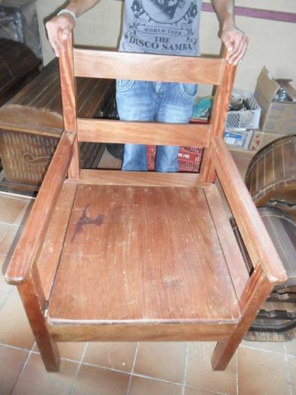 Cadeira Antiga De Óleo Balsamo 105x80x70 (a_p)