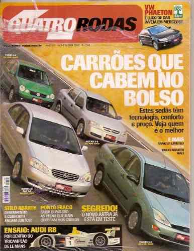 Revista Quatro Rodas - Carrões Que Cabem No Bolso