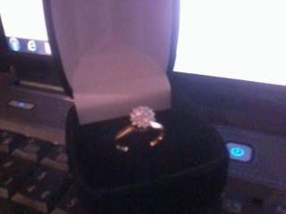Anel Em Ouro 18k C Diamantes Mais Brincos Com Diamantes Ouro