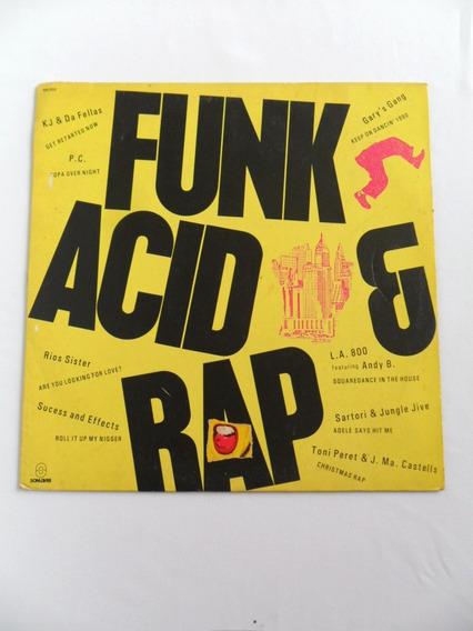 Disco Lp Vinil Antigo Funk Acid & Rap Ano 1990