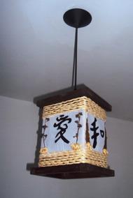 Lustre Oriental Rustico Ideograma Japonês Frete Grátis