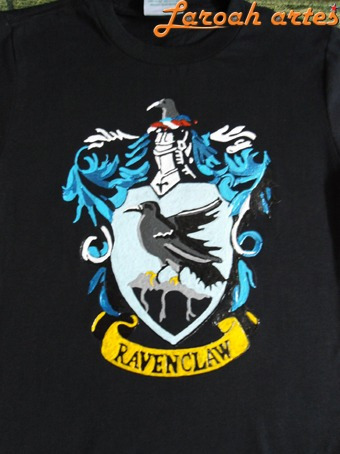 Camiseta Harry Potter Brasão Corvinal Lana Camisetas