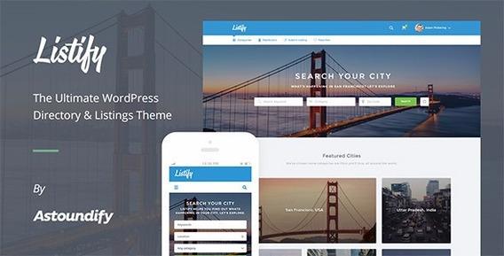 Tema Listify Wordpress Guia Comercial Ultima Atualização!