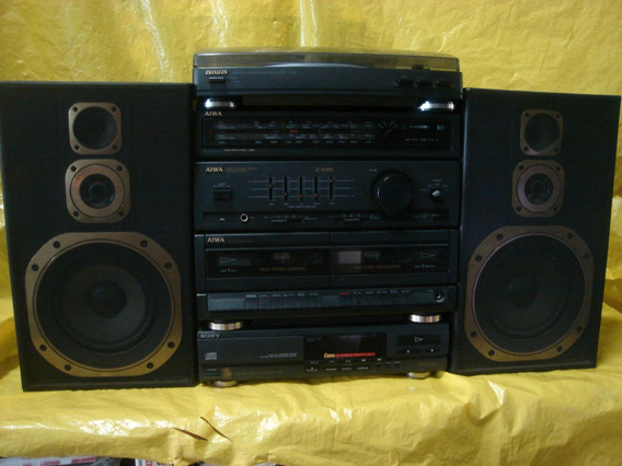 Conjto De Som 4 X 1 Aiwa - Cxz535 - T-d+cd+radio 4 F+cx+deck