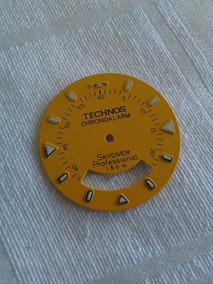Mostrador Relógio Technos Skydiver Amarelo 29mm